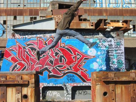 don milvio at the graffiti cathedral