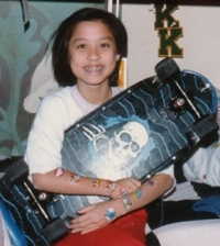 me in 1986 with smurf tattoos